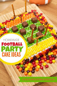 diy football field super bowl party cake spaceships and laser beams