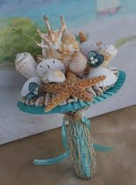 seashell bouquet bridesmaid seashell and starfish bouquet for destination