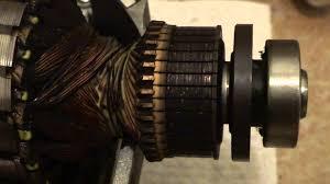 teardown and inspection of bosch washing machine motor rotor