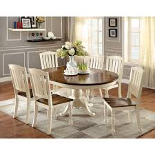 Dining Room 7 Piece Sets Furniture Of America Besette Cottage 5 Piece Oval Dining Table Set