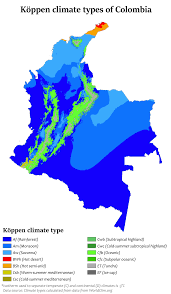 United States Climate Map by Climate Of Colombia Wikipedia