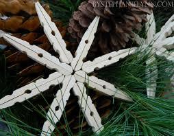 clothes peg snowflake fun crafts kids