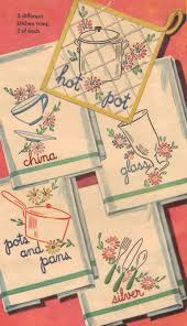 kitchen towel designs free vintage embroidery patterns embroidery pinterest