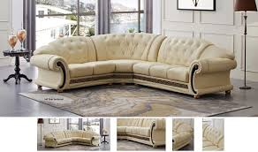 beige leather sectional sofa versa leather sectional sofa in beige free shipping get furniture