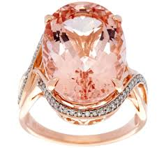 pink star diamond ring rings u2014 jewelry u2014 qvc com