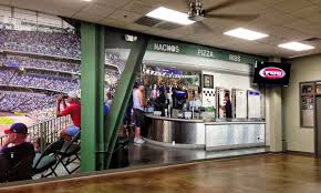 custom wallpaper custom wall murals megaprint food warming equipment s lobby makes you think you are in fenway park