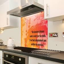 credence en verre trempé pour cuisine fond de hotte personnalisable