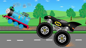 monster trucks kid video thomas train vs batman truck monster trucks for children kids