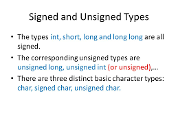 Types Meaning Variables And Types Primitive Built In Type Type Meaning Minimum