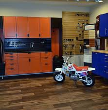 can you put cabinets on a floating vinyl floor take your garage or shop from blah to banging with luxury