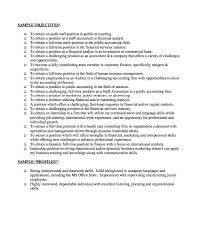 Sample Accounting Resume Objective by Download Resume With Objective Haadyaooverbayresort Com