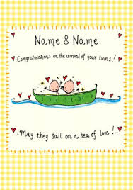 new baby cards for twins funky pigeon