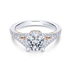 split band engagement rings split shank engagement rings gabriel co