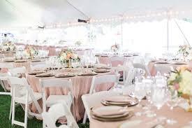 pale pink table cover weddings at gardens at elm bank wellesley weddings boston wedding