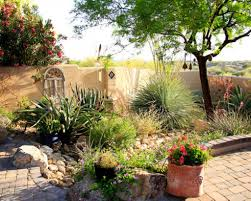 Mediterranean Backyard Landscaping Ideas Backyard Desert Landscaping Home Design Ideas Pictures Remodel