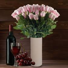 flowers wine bouquets vase included ebloomsdirect