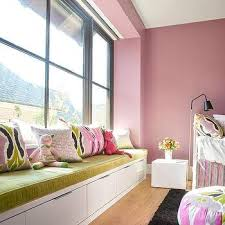Pink And Lime Green Bedroom - lime green velvet window seat cushion design ideas