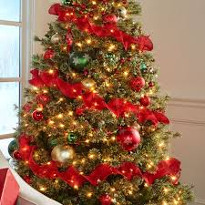 spiral ribbon christmas tree