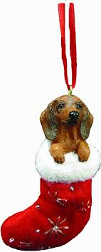 dachshund ornament with santa s
