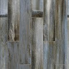 floor and decor wood tile blue wood plank porcelain tile 6in x 33in 100378173
