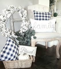 buffalo check pillows fall farmhouse decor blessed ranch