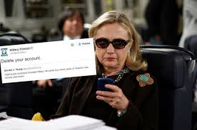 Hillary Clinton Sunglasses Meme - freaked out over hillary clinton s tweet to donald trump