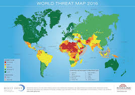 Iraq World Map by World Threat Map 2016 U2013 Riskmap Result Group Gmbh