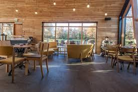 cafe in the botanical gardens design by kollgata arkitektur