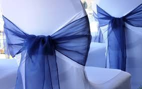 navy blue chair sashes organza chair sashes