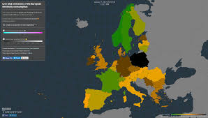 Map Of The Europe by Electricity Map Live Co2 Emissions Of The European Electricity