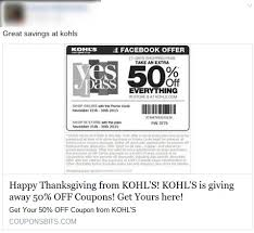 kohls tv black friday kohl u0027s thanksgiving coupon scam