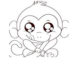 download monkey coloring pages printable ziho coloring