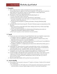 Gymnastics Coach Resume Cheerleading Coach Cover Letter