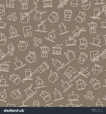 wallpaper coffee design coffee background seamless pattern restaurant menus stock vector