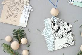 diy to try home sweet home ornaments paper and stitch