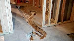 basement shower pan installation