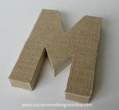 burlap covered letters step by step instructions