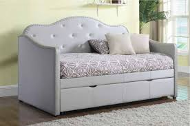 Daybeds With Trundles Dillanie Pearlescent Grey Twin Daybed With Trundle 300629 Savvy