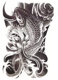 black koi tattooforaweek temporary tattoos