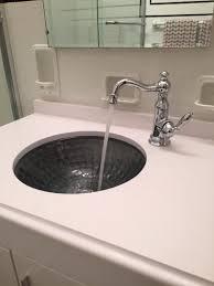 Undermount Glass Bathroom Sinks Kohler Kallos Undermount Glass Bathroom Sink In Ice K 2361 B11 At