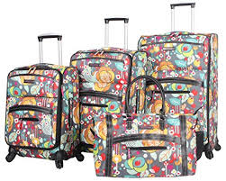 bloom bags bloom luggage 4 suitcase collection with