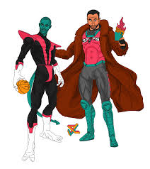 Gambit Halloween Costume Tony Parker Manu Ginobili Nightcrawler Gambit Imgur