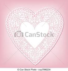 heart doily antique white lace heart doily vintage heart shaped white eps