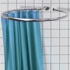 how to place a shower curtain rods the homy design image of round shower curtain rods