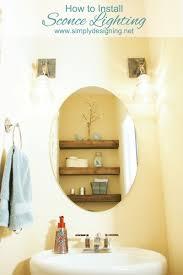 how to install bathroom light fixture