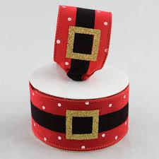 santa belt ribbon 2 5 velvet santa belt ribbon with polka dots 20 yards