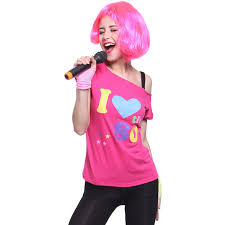 i love the 80 u0027s pop star t shirt top 80s party fancy dress
