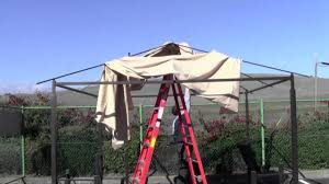 Lighted Music Gazebo by How To Install A Home Depot Harbor Gazebo Canopy Youtube