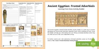 ancient egyptian fronted adverbials learning from home activity
