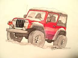 jeep wrangler front drawing random jeep drawing by prestonthecarartist on deviantart